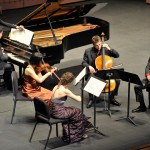 At the Chamber Music | OC Inaugural Gala Concert, with Yuri Cho and David Samuel from the Afiara String Quartet